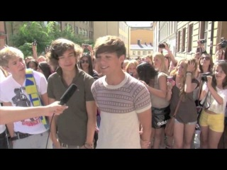 One Direction 1D in Stockholm - Meeting Swedish fans and recording new songs