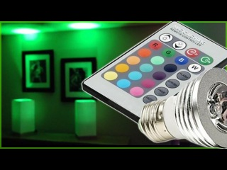 LED LIGHTS - Magic Lighting LED Light Bulb Controlled w/ Remote With 16 Different Colors And 5 Modes