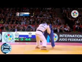 Final -60kg JANG Jin-Min (KOR) - TAKATO Naohisa (JPN) Judo Grand Slam Paris 2013