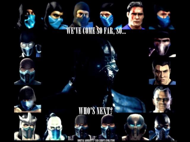 Эволюция Sub Zero Mortal Kombat 1992 2015 Хронология МондешВилль
