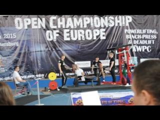 Чемпионат Европы СпБ 2015 жим 132,5