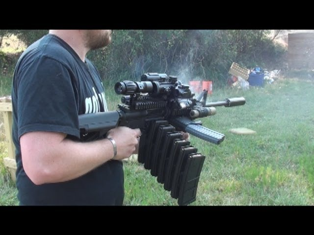 RANGE TEST THE ULTIMATE AR-15 MALL NINJA TACTICAL ZOMBIE DESTROYER!
