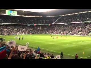 Фанаты Карабаха в матче против Селтик