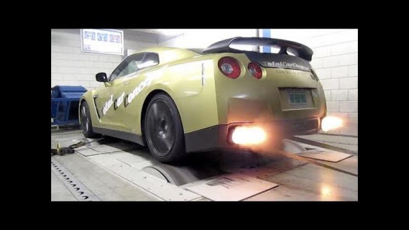 Nissan GT R Switzer P800 Dyno run with backfire