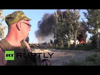 Украина: Тяжелый перестрелки и обстрелы ярость на под Донецком.