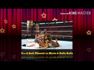 WWE WrestleMania 28 Eve & Beth Phoenix vs Kelly Kelly & Maria Menounos