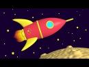 Яйцо с сюрпризом ракета. Мультфильм - конструктор. Развивающие мультики для самых маленьких.