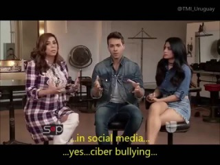 Emeraude Toubia and Prince Royce Interview with Sal y Pimienta