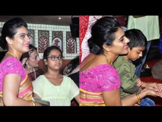 Kajol SPOTTED with kids Nysa & Yug Devgn