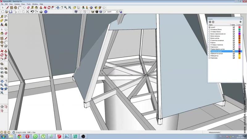 HR_ Строительство крыши дома (2_2) SketchUp Фотоотчет