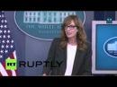 США Западное Крыло Си Джей Крегг врезается Белый Дом пресс брифинг
