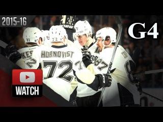 Pittsburgh Penguins vs New York Rangers. 2016 NHL Playoffs. Round 1. Game 4. . (HD)