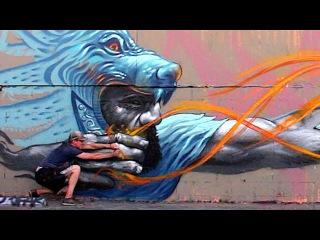 Badass Archer Street Art Mural - Los Angeles   KIPTOE