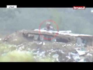 Йемен. +18. Сюжет ТВ хуситов о работе йеменских снайперов против саудитов и их нае ...