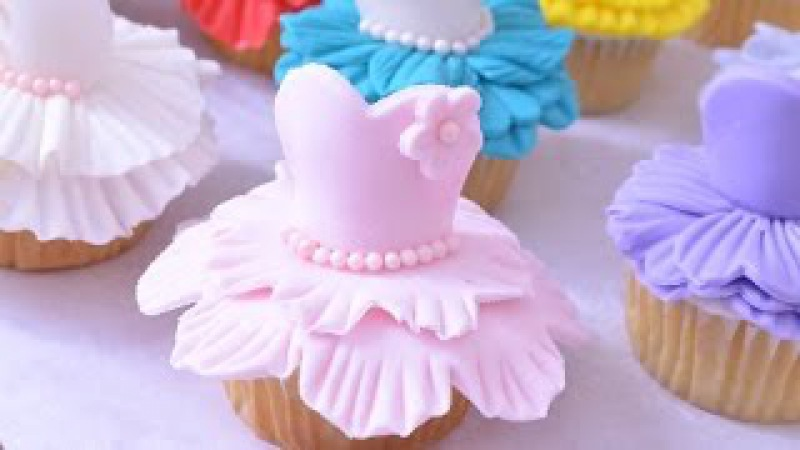 Magdalenas cupcakes en Trajes de Bailarinas