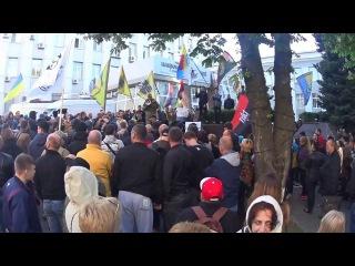 Выступление АТОшника перед ГУ полиции в Днепропетровской области
