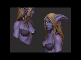 Draenei bust time lapse