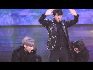 FANCAM:PERF 161229 GOT7 - Hard Carry (Jinyoung Focus) @ KBS Gayo Daechukje 2016.