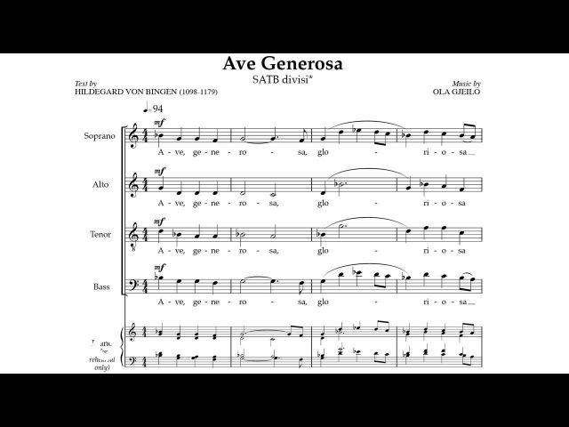 Ola Gjeilo Ave Generosa