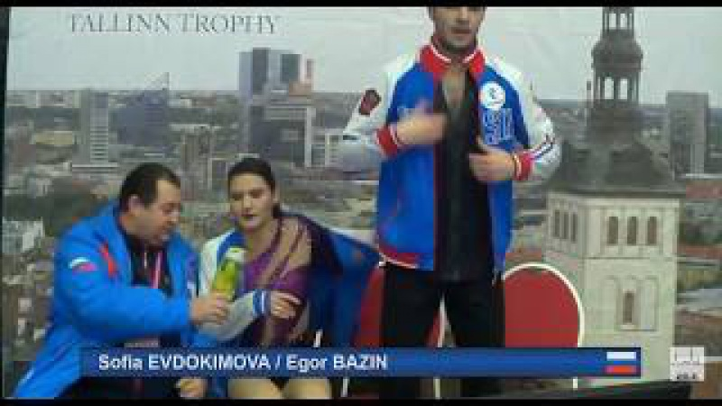 6 Sofia EVDOKIMOVA Egor BAZIN RUS 2017 TA⅃⅃INN TROPHY SENIOR Ice Dance SD