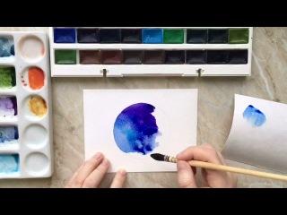 """Watercolor speedpaint """"Space"""""""