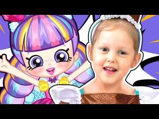 СУПЕРМАРКЕТ Шопкинс Летим в Кинотеатр Салон Красоты и Магазины для кукол Shopkins Видео для детей