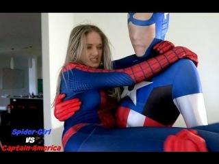 Spiderman vs. Captain America (REAL LIFE BATTLE CHALLENGE)
