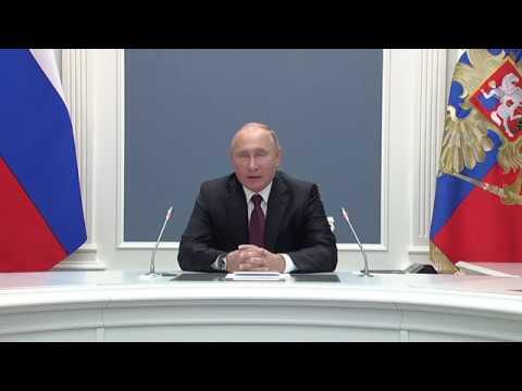 31 10 2018 В Путин принял участие в церемонии ввода в эксплуатацию алмазного месторождения в Якутии