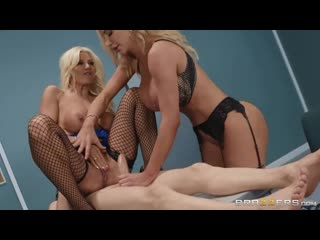 Brittany Andrews And Nicolette Shea - Fucking His Way Into The USA [All Sex, Hardcore, Blowjob, Threesome]