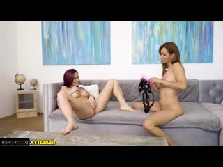Isis Love & Monique Alexander [ Strapon &  Lesbians / Intimate haircut, Tattoo, Dildo and vibrator, Cunnilingus]