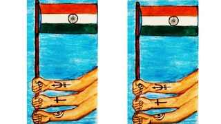 How to draw the Indian national flag and unity in the diversity easy step by step for kids II flag