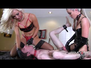 Cameron Dee, Gigi Allens - Strap-ons  Champagne Enemas [Femdom, Strapon, Humilating, Stockings, Latex]