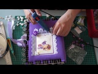 Скрапбукинг. Мастер-класс- Фотоальбом для девочки из конвертов.
