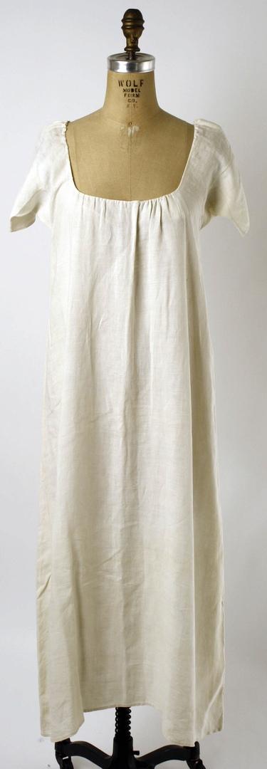 Сорочка, третья четверть XVIII века, Франция. The Met.