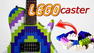 I Made a Guitar from LEGO and Epoxy  LEGOcaster!!