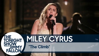 """Miley Cyrus Closes The Tonight Show with """"The Climb"""""""