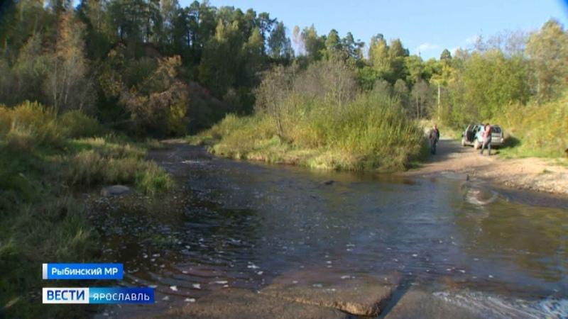 Река Колокша затопила единственный путь к трем деревням в Рыбинском районе