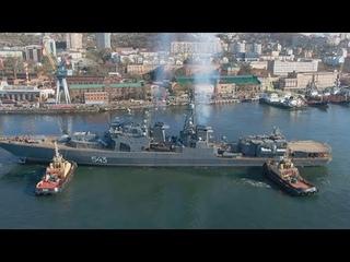 Фрегат Маршал Шапошников вышел на второй этап испытаний в Японском море