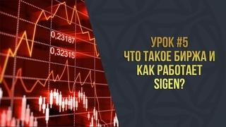 Урок 5 l Что такое биржа и как работает SIGEN?