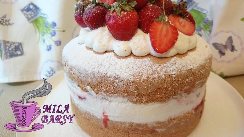 Торт Королевы Виктории | С Домашним клубничным конфитюром | Queen Victoria sponge cake