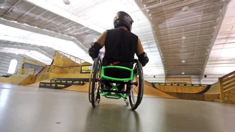 Аарон Фотерингем Фристайл в инвалидной коляске Wheelchair Freestyle Wheelz Gnarly from Aaron