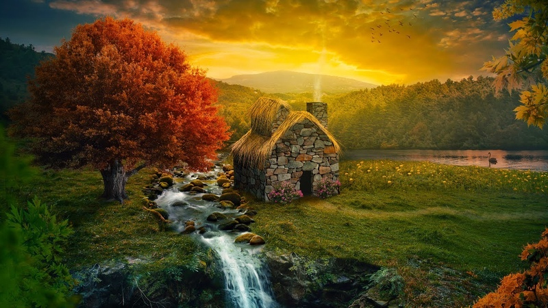 Relaxing Beautiful Music Peaceful Instrumental Mediation Music Peaceful Cottage by Tim Janis