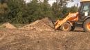 JCB 3CX Как управлять передним ковшом и челюстью. JCB 3CX Front shovel and jaw.