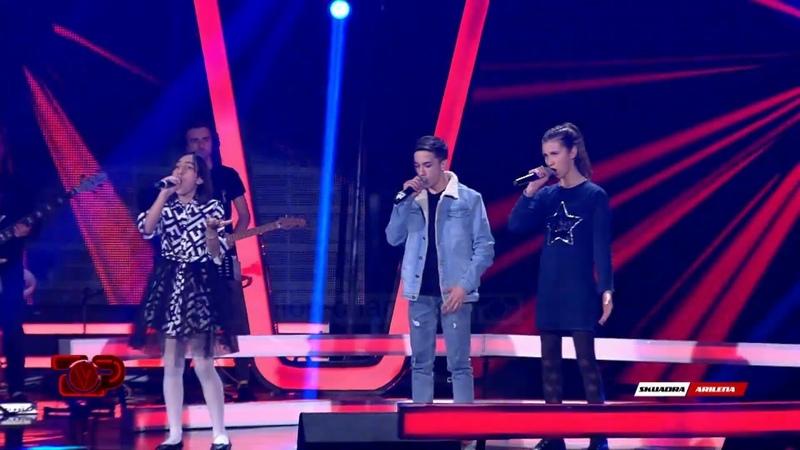 Iris vs Petro vs Vesa - Bella Ciao Battle The Voice Kids Albania 2019.