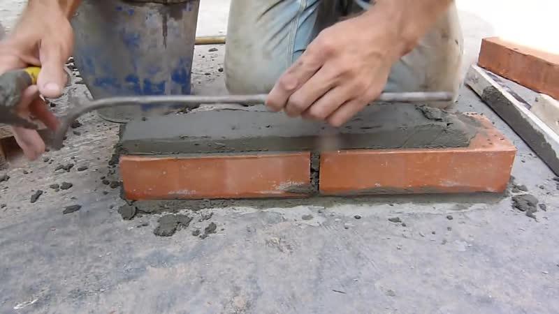 Кладка полнотелого кирпича на прут Нивок 111