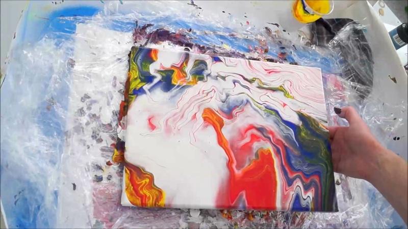 Flüssige Malerei! Acrylfarben Eingießen Schönes Bild in 5 Minuten !