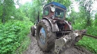 Синий Трактор Т40 АМ Эвакуация ГАЗ 69