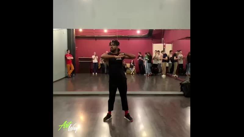 Упражнение для начинающих в сальсе от Адониса Сантьяго Школа ArtWay новый набор