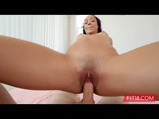 [Fit18] Alexis Tae - Fit And Skinny Light Skin Black Teen Alexis Creampied By Casting Agent - 52Kg - 168Cm