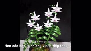 Bonsai từ dây đồng | cách làm hoa lan đột biến từ dây nhôm mạ màu | bonsai handmade ha noi.